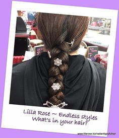 """Lilla Rose Hair accessories fit any style. From every day, get it out of the way hairdos, to more elegant and glamorous looks, we've got everything you need to complete your """"hair-drobe.""""  You match your jewelry... now meet the jewelry for your hair.   Comfortable ~ Durable ~ Beautiful #allbecauseofahairclip #radiantwithjoy #lillarosestrong #sharethelillalove #alldayhold #hairhero"""