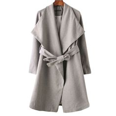 Baby, its cold outside, so bundle up in the Juliana wide collar grey jacket. #streetstyle