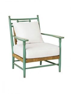 The Hampton's Furniture Collection, Westhampton Rush Arm Chair, Turquoise