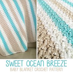 The color combination of this blanket reminds me of one of those paintings of a cool summer morning on a New England shoreline. You know what I mean – the kind with a solitary white wooden beach chair sitting in the soft, so-light-it's-almost-white sand. It brings me back to my childhood, when my family would drive from Michigan to Rhode Island to visit my Uncle in the summer, and we'd spend a week relaxing, exploring, eating ice cream at the shop down the road, and enjoying the company of…
