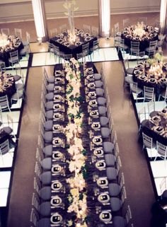 Who said all the tables at your wedding had to be the same? Round, Square, Big, Small, I love it!