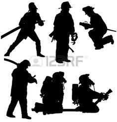 Silhouette pompier