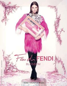 Caroline Brasch Nielsen for Fan di Fendi Blossom Fragrance Campaign