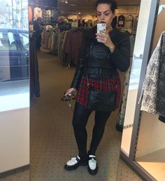 """78 Likes, 9 Comments - Suzanne (@deltacepheinl) on Instagram: """"Outfit shot 😎 #outfit #drmartens #tartan #leather #adrianloafers #loafers #drmartensstyle"""""""