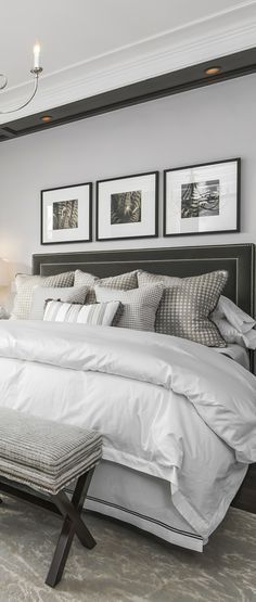 Luxurious, neutral bedroom
