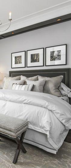 Luxurious, neutral bedroom