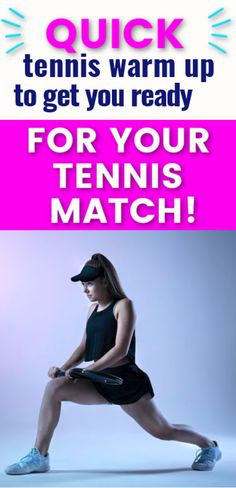 Warming up before your tennis match is essential so that you can prevent injuries. Try this effective tennis warm up before practice or playing a tennis match.