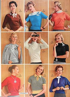 Sears Catalogue 1956- I'll have the blue one top middle thanks :)