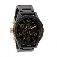 Shop for Nixon Men's Chrono Matte Black and Gold Watch. Get free delivery On EVERYTHING* Overstock - Your Online Watches Store! Cool Watches, Watches For Men, Nixon Watches, Wrist Watches, Casual Watches, Black And Gold Watch, Oversized Watches, Black Gold Jewelry, Gold Fashion