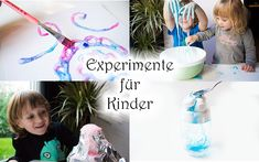 Experiments for Children with Wow Effect - Mama Kreativ - Diy For Kids Diy For Kids, Cool Kids, Crafts For Kids, Pediatric Occupational Therapy, Happy Week, Science For Kids, Kindergarten Activities, Creative Kids, Happy Kids