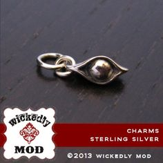 Charm  Add On  Sterling Silver One pea in a by wickedlymodpendants, $24.00