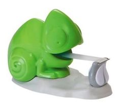 New CHAMELEON Sellotape / Scotch Magic TAPE DISPENSER, Desk Toy, Cute Lizard 3M on Wanelo-- he reminds me of Pasquale from Tangled!