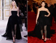 Jessica Biel In Giambattista Valli Spring 2013 Couture gown, cluth & Shoes and a Fred Leighton cuff – 2013 Met Gala.. it luked better on the runway!