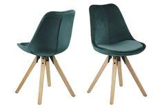 Kjøp - 889 NOK! Augusta spisestol - Grønn (Fløyel). Stilig spisestol fra vår Augusta serie med en rund moderne