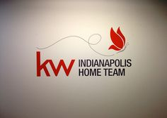 Interior Vinyl Wall Logo for Keller Williams  Sign produced with enthusiasm by Redirections Sign & Design Indianapolis, IN www.HappySignage.com www.RedirectionsSignDesign.com