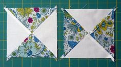 I have made good progress with my Hour Glass Quilt top, and have especially enjoyed the piecing. I absolutely love the Half Square Triangl...