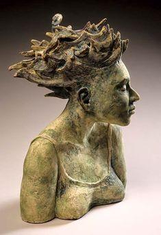 Anne Gregerson – ceramic female bust Source by tereswyldhart Sculpture Head, Sculptures Céramiques, Pottery Sculpture, Pottery Art, Lion Sculpture, Ceramic Sculptures, Ceramic Figures, Ceramic Art, Glazed Ceramic