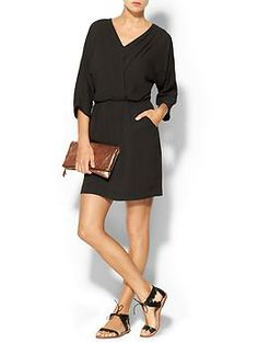 Greylin Vickie Faux Wrap Dress | Piperlime. Red heels and a french manicure!!!!!! Im so in love