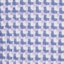 Italian Lavender and Ivory Cotton Novelty Houndstooth Woven