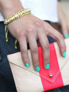 Buried baubles from @BaubleBar featuring Color Club polish and a Claire Vivier clutch http://birch.ly/w6rmQe