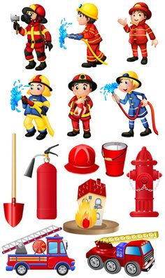 Diy And Crafts, Crafts For Kids, Kindergarten, Community Helpers Preschool, Fireman Party, Kids Education, Pre School, Clipart, Firefighter