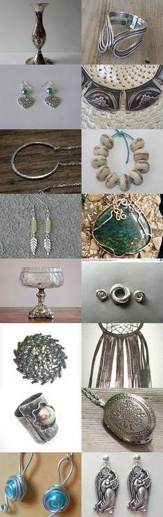 SILVER FOR THE NEW YEAR.................Gratitude Treasury by Pat Peters on Etsy--Pinned with TreasuryPin.com