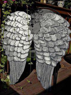 DIY Christmas Angel : DIY Angel Wings in Tarnished Silver
