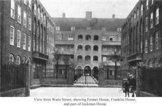 From Watts Street, Franklin, Fenner and Jackman Houses, Wapping