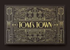 Gorgeous art deco-inspired identity work for Tom
