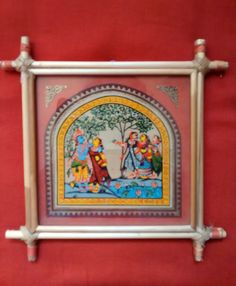 Screen printed beautiful wall hanging made of by PattachitraNet