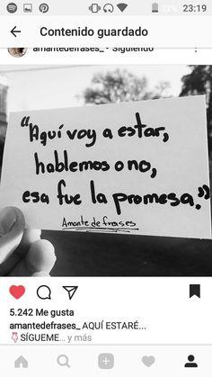 Cumplo mis promesas mi amor...