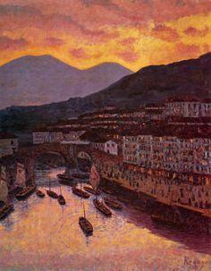 Darío de Regoyos y Valdés - El puerto de Ondarroa