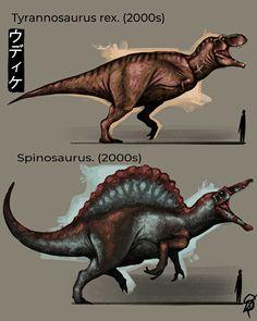 Cool Dinosaurs, Prehistoric Dinosaurs, Jurassic World Dinosaurs, Jurassic Park World, Prehistoric Creatures, Spinosaurus, Dinosaur Art, Cute Dinosaur, Creature Concept Art