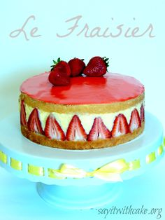 Fraisier derives from the French word fraise, meaning strawberry. Le Fraisier is a classic French cake made with a basic génoise sliced in two halves, each of which is brushed with kirsch liqueur....