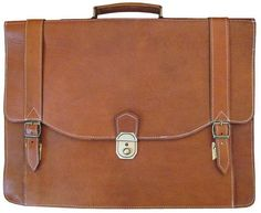 Leahter Bag Briefcase messenger Laptopbag handmade