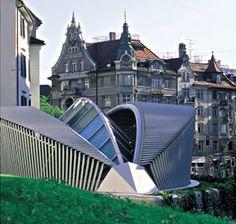 Antonio Calatrava - Emergency Services Center Pfalzkeller Gallery St. Gallen Switzerland - 1988 1999