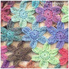 Crochet Flowerscaf Pattern https://www.facebook.com/AttysLoveForCrochet: