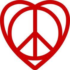 Paz e amor no coração