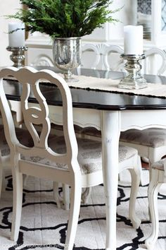 Dining Table   Chalk Paint Ideas for Rustic Home Decor