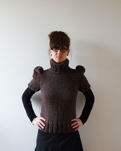 Oh my....Setina Alpaca Blend Brown Sweater by CreaKy on Etsy, €100.00