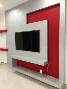 Top 50 Modern TV Stand Design Ideas For 2020 - Engineering Discoveries Wall Unit Designs, Living Room Tv Unit Designs, Ceiling Design Living Room, Tv Wall Design, False Ceiling Design, House Design, Tv Unit Interior Design, Tv Unit Furniture Design, Hall Interior
