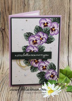 Make Your Own Card, Fancy Fold Cards, Stamping Up Cards, Card Tutorials, Paper Cards, Creative Cards, Flower Cards, Greeting Cards Handmade, Pansies