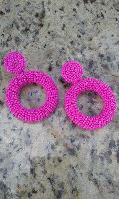 Tatting Jewelry, Ear Jewelry, Seed Bead Jewelry, Bead Jewellery, Seed Bead Earrings, Beaded Jewelry, Handmade Jewelry, Diy Earrings Dangle, Cute Earrings