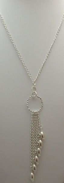 Metal Rain $75 Make this with your new clear oblong beads #elegantbeadednecklace