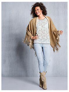 #Poncho #Shirt #Jeans #Stiefel