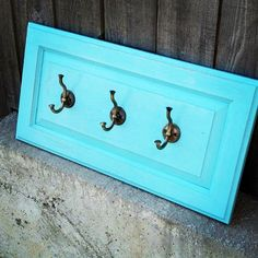 What to do with old cabinet doors... turn them into coat racks!