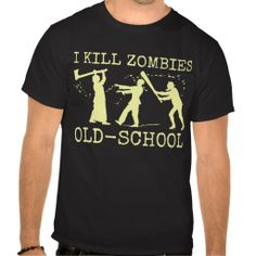#Funny Retro Old School #Zombie Killer / Hunter Tshirt by HaHaHolidays, Sold on Zazzle