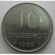 Ai#361 - Bela Moeda De 10 Cruzeiros De 1986 - F C Escassa