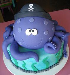 Pirate octopus birthday cake #thecakeisonthetable