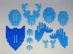 3D Deer Head Perler Bead Wall Decor by MIZGVUSdesigns - Done: https://de.pinterest.com/pin/374291419012759933/